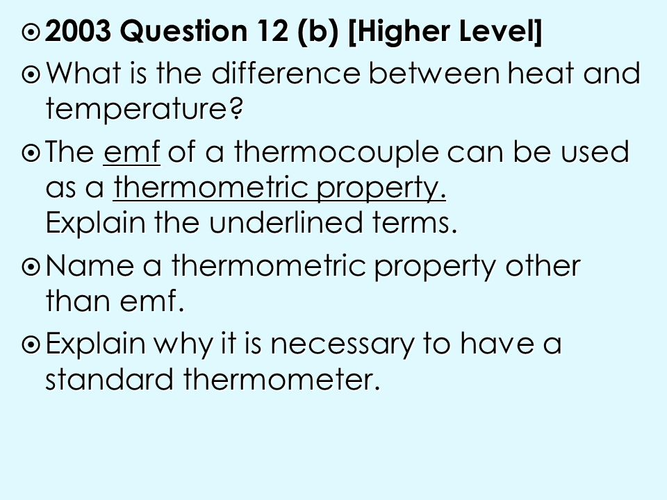2003 Question 12 (b) [Higher Level]